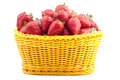 Strawberry in a basket Royalty Free Stock Image