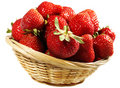 Strawberry in basket Royalty Free Stock Photo