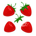 Strawberry berries set