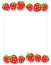 Strawberry Border / Frame Stock Photos
