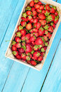 Strawberry in a box Royalty Free Stock Photo