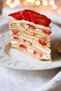 Strawberry cake Royalty Free Stock Photography