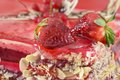 Strawberry cake sweet with and other fruits Royalty Free Stock Images