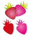 Strawberry cartoon Royalty Free Stock Photos