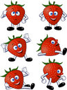 Strawberry character Stock Photos