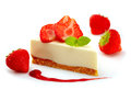 Strawberry cheese cake Stock Images
