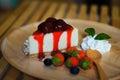 Strawberry cheesecake Royalty Free Stock Photo