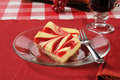 Strawberry cheesecake sliced with swirls Stock Photography