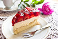 Strawberry cheesecake still life with Stock Photography