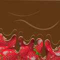 Strawberry and chocolate Stock Photo