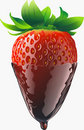 Strawberry with chocolate Royalty Free Stock Image