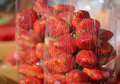 Strawberry in clear bag Royalty Free Stock Photography