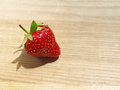 Strawberry close up on a wooden board Stock Photography