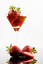 Strawberry cocktail Royalty Free Stock Photos