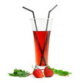 Strawberry cocktail Royalty Free Stock Images