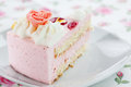 Strawberry cream cake Royalty Free Stock Photo