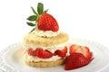 Strawberry and cream shortcake Royalty Free Stock Photo