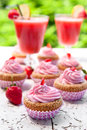 Strawberry cupcakes Royalty Free Stock Photo