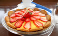 Strawberry Custard Biscuit Tart Royalty Free Stock Image
