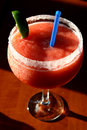 Strawberry daiquiri Stock Photo