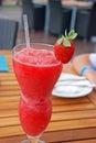 Strawberry Daiquiri Cocktail Royalty Free Stock Photo