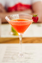 Strawberry daiquiri Royalty Free Stock Photo