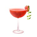 Strawberry daiquiri cocktail realistic Royalty Free Stock Photo