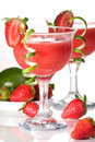 Strawberry Daiquiri - Most popular cocktails serie Royalty Free Stock Photos
