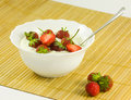 Strawberry desert with cream Royalty Free Stock Image