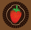 Strawberry design over brown background vector illustration Royalty Free Stock Photos