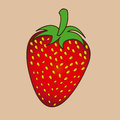 Strawberry design over pink background vector illustration Stock Photography