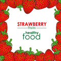 Strawberry design over white background vector illustration Stock Images