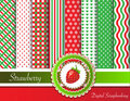 Strawberry digital scrapbooking Stock Image