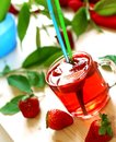 Strawberry drink, nonalcoholic beverage Stock Images