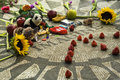 Strawberry fields john lennon memorial central park nueva york los e e u u Imagen de archivo libre de regalías