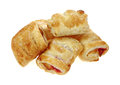 Strawberry Filled Bite Size Pastry Stock Image