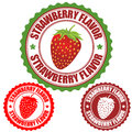 Strawberry flavor stamp set of rubber stamps vector illustration Royalty Free Stock Image