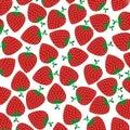 Strawberry fresh fruits pattern background