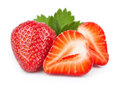 Strawberry fresh on white background Royalty Free Stock Images