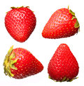 Strawberry fruit collections isolated on white background macro Royalty Free Stock Photography