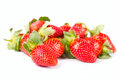 Strawberry fruit fresh ripe on white Royalty Free Stock Photos