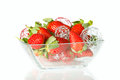 Strawberry fruit fresh ripe on white Royalty Free Stock Images