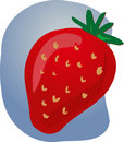Strawberry fruit illustration Stock Photos