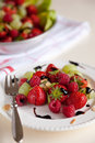 Strawberry and fruit salad Stock Photo
