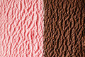 Strawberry and fudge ice cream close up Royalty Free Stock Photo