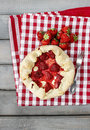 Strawberry galette. Summer pie Royalty Free Stock Photo