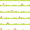 Strawberry garden bed seamless vector pattern. Royalty Free Stock Photo