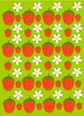 Strawberry garden texture Royalty Free Stock Photography