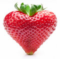 Strawberry heart. Royalty Free Stock Photo