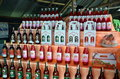Strawberry home made wine chiang rai thailand march in the chiang rai market Stock Photos